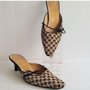Salvatore Ferragamo Slide Heel logo shoe